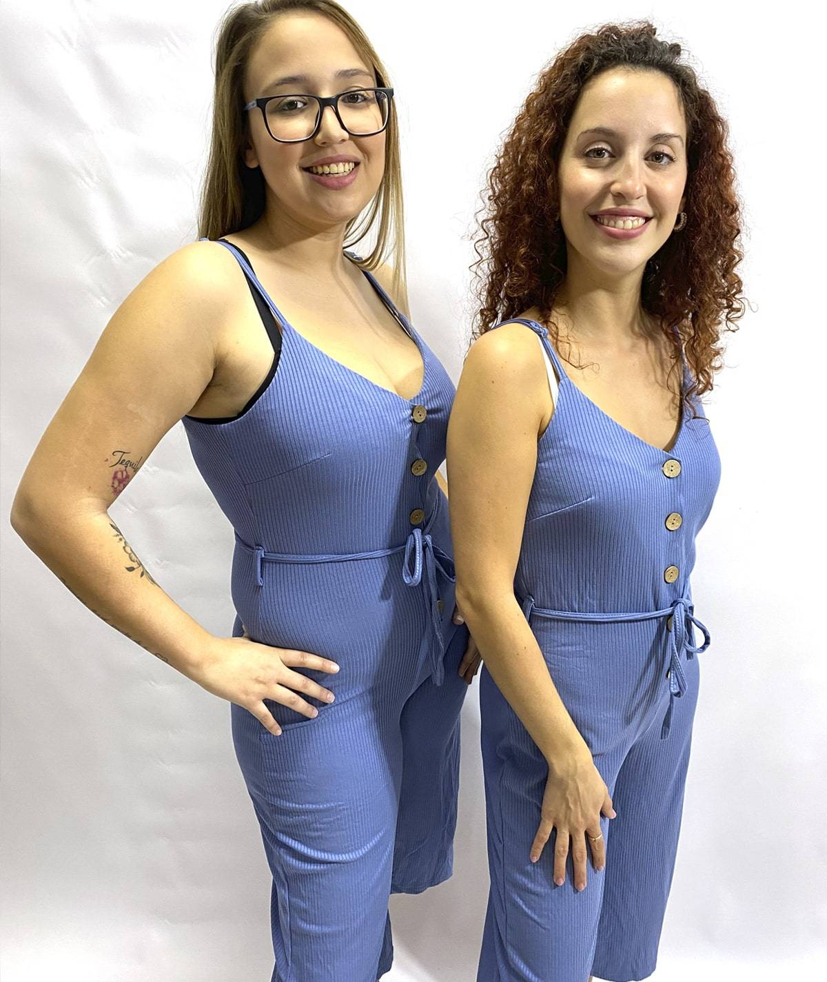 Buttons and handles jumpsuit